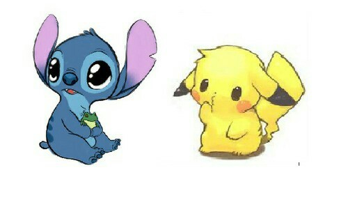 stitch and pikachu we heart it stitch pikachu and