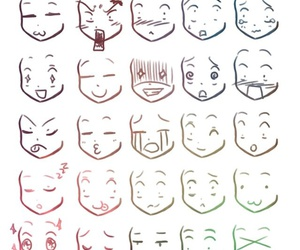 Chibi Expressions Chart Emotion by dolly_yuuri on we heart it