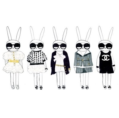 Bunny Prints: When bunnies meet fashion