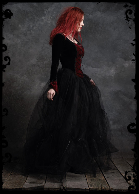 Gothic Clothing Dark Romantic Goth Couture Camellia Gothic Wedding Gown