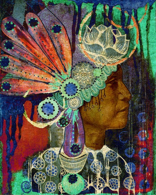 native american headdress art print by heathergerni on Etsy