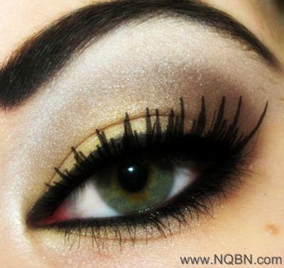 بظلال عيون ملونة مفعمة بالحيويةصيحة طبعات العيون.:( مكياج عيون فرنسي