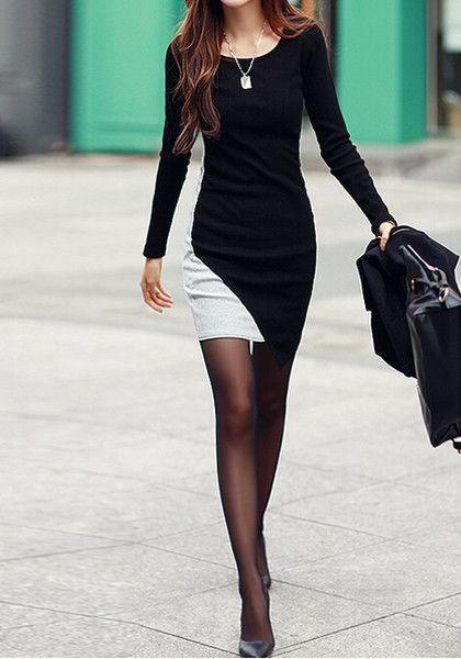 Облегающее платье выше колена