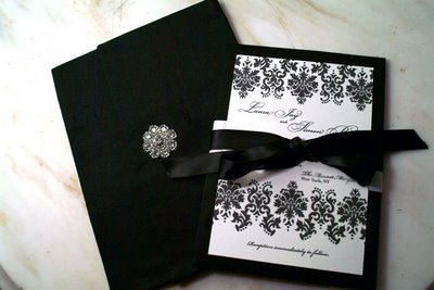 Black  White Wedding Invitation Kits on Black And White Wedding Invitations   Google Images On We Heart It