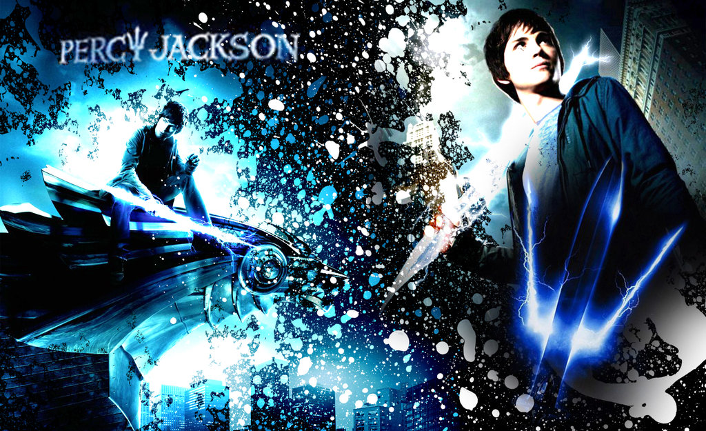 Group Of Percy Jackson Books Wallpaper
