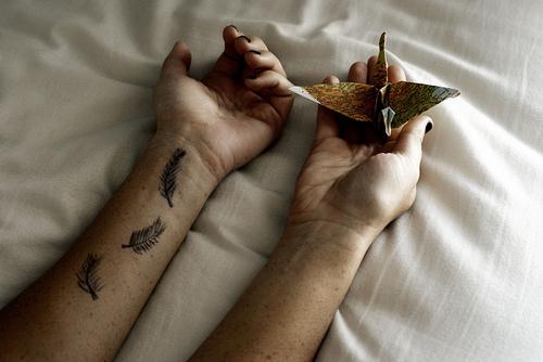 bird, hands, origami, paper,
