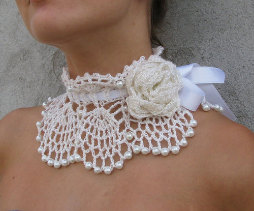 Free Crochet Wedding Jewelry Patterns : CROCHET NECKLACE PATTERN PEARL - Crochet Club