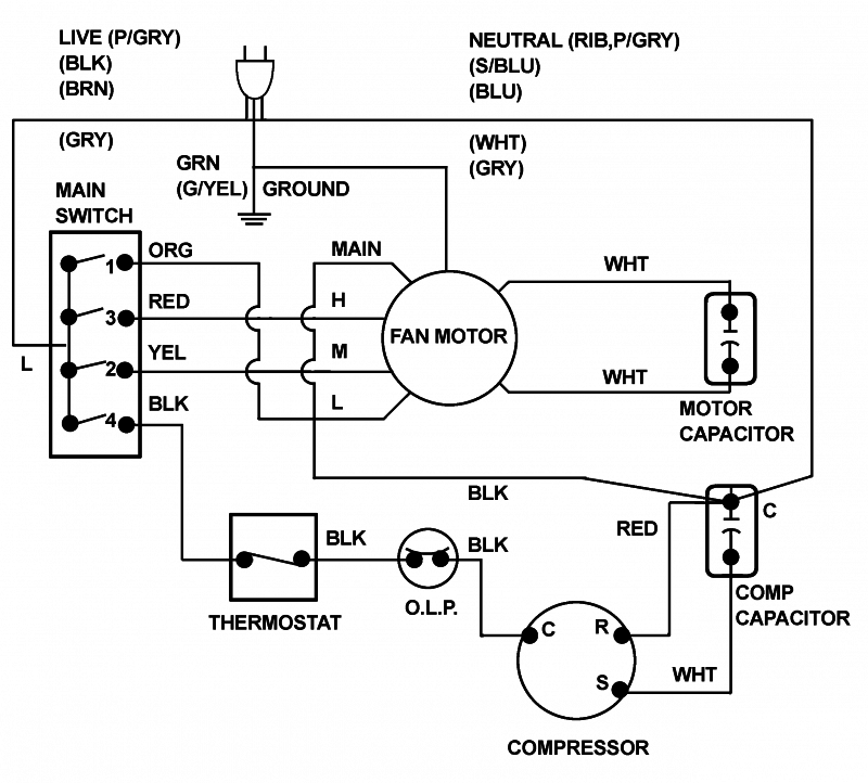 Split Type Air Conditioner Wiring Diagram