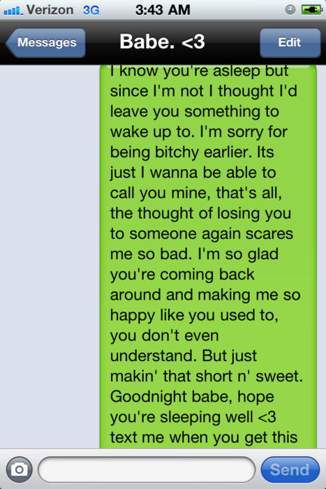 best text message for her