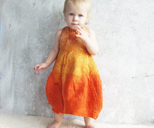 felted baby dress