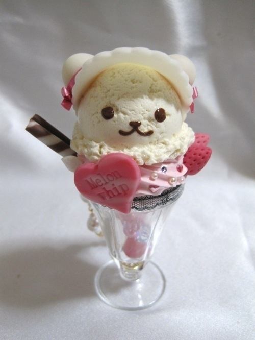 bear, ice creame, kawaii, strawberry - inspiring picture on Favim.com