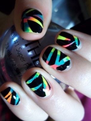 scratch magic black rainbow nail polish