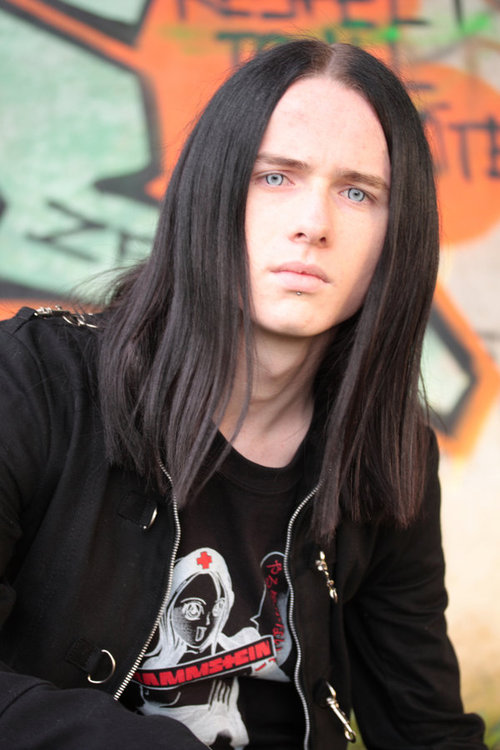 hot long haired goth guy