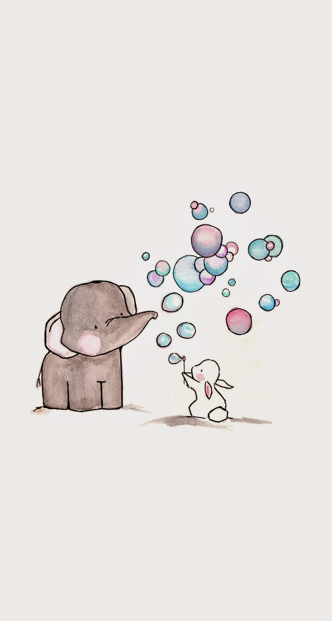 Wallpapers elephant baby elephant cute we heart it - Baby animation wallpaper ...