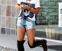 Vanessa Hudgens Short Shorts - Pants & Shorts Lookbook - StyleBistro