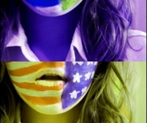 usa flag bodypainting
