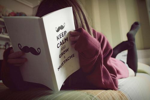 Book-girl-keep-calm-mustache-favim.com-158619_large