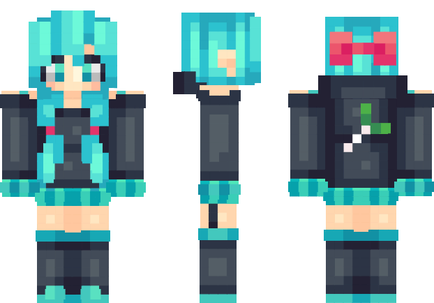 Minecraft anime girl skins