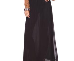 fab chiffon maxi skirt