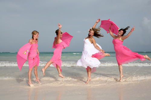 What ever the theme chosen compliment your beach wedding gowns