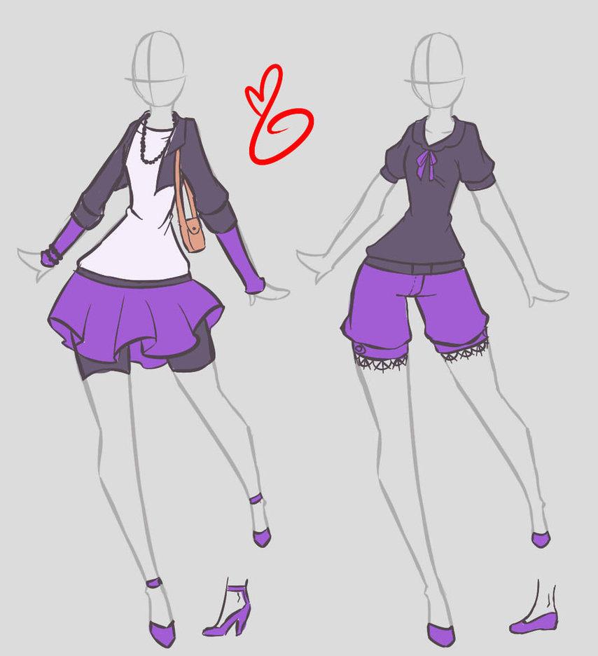Как Рисовать Одежду