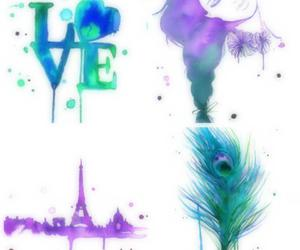 watercolor love feather