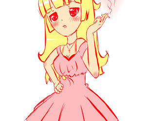 cigarette anime cute pink