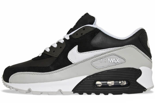 nike air max 90 black white and grey