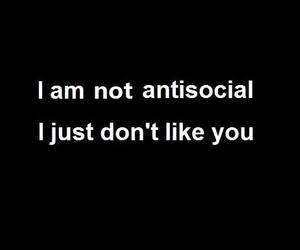 i don't like you
