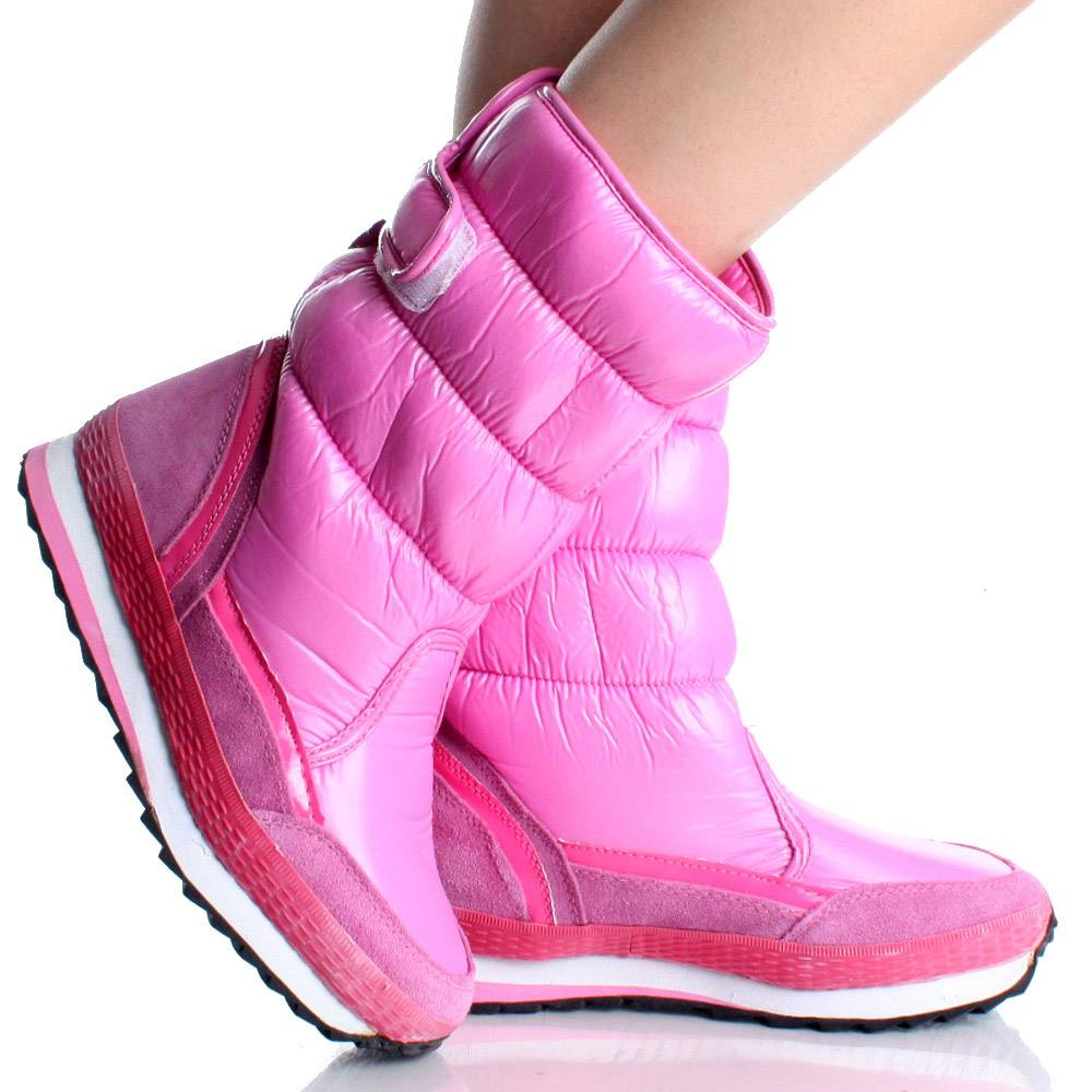 Pink Snow Boots - Cr Boot