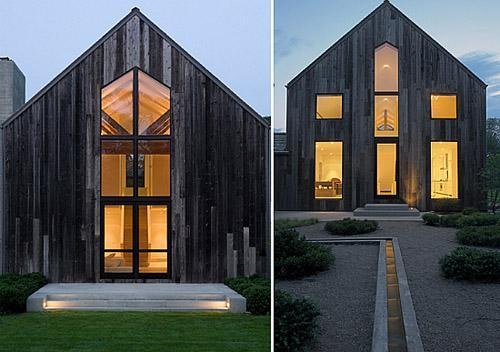 Black barn house by d apostrophe and ten pictures with for Barn style modular homes