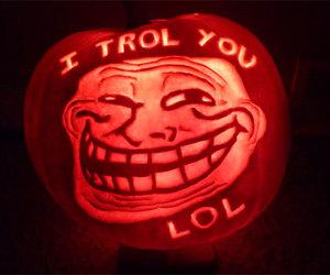 troll lol pumpkin