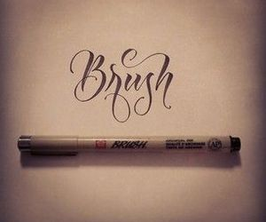 hand lettering. brush pen