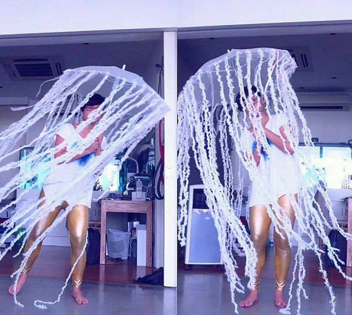 Костюм медузы как сделать
