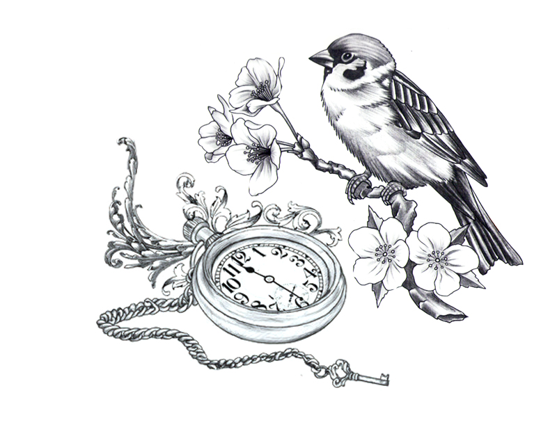 Clock Watch Drawing Tattoo-i-had-clock-hands