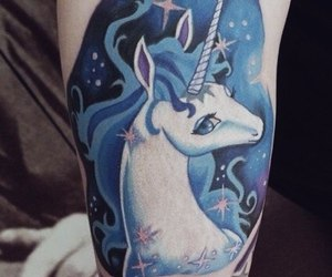 unicorn tatoo cute