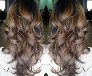 caramel silver hair