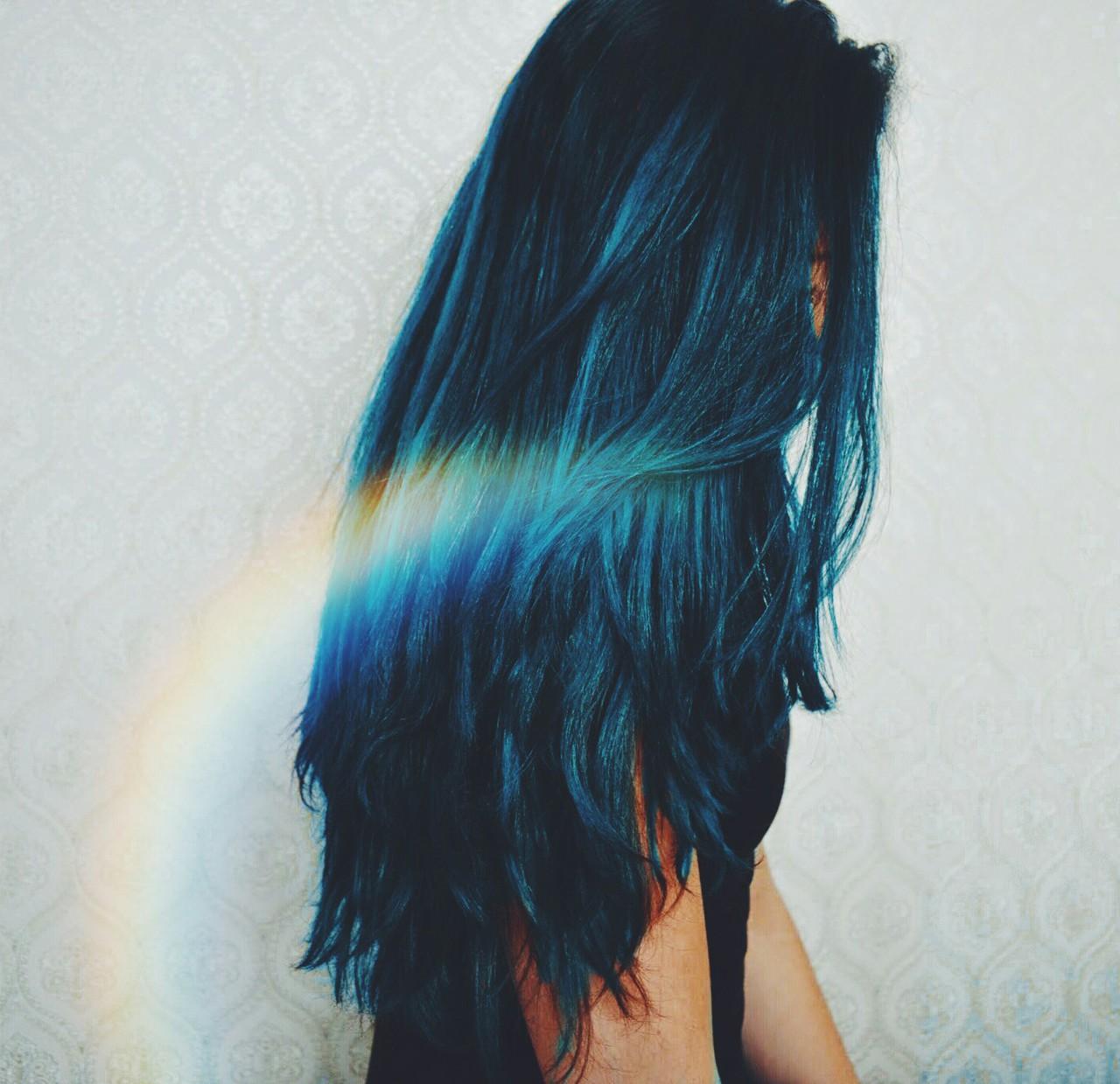 Фото девушек с сине черными волосами