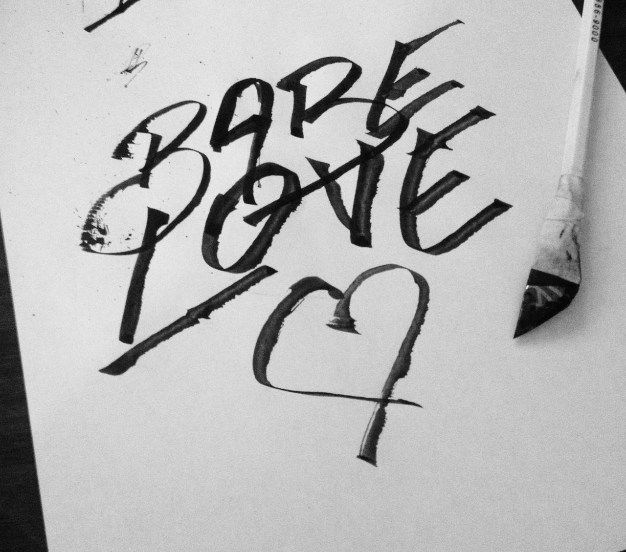 Babe Love | via Tumblr | We Heart It | bae, black and ...
