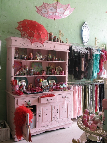 Pink cabinet of pretties!!! on Flickr - Photo Sharing!