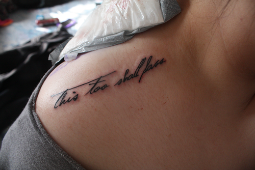this too shall pass tattoo