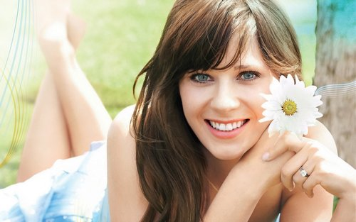 Zooey Deschanel Widescreen Wallpaper - Zooey Deschanel Wallpaper (8422251) - ...