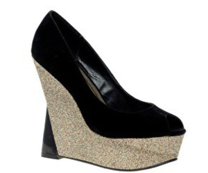 shoes glitter black