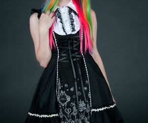 rainbow hair lolita