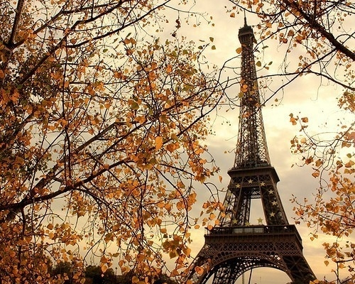 cloud, clouds, cloudy, eiffel, eiffel tower, fall - inspiring picture on Favim.com