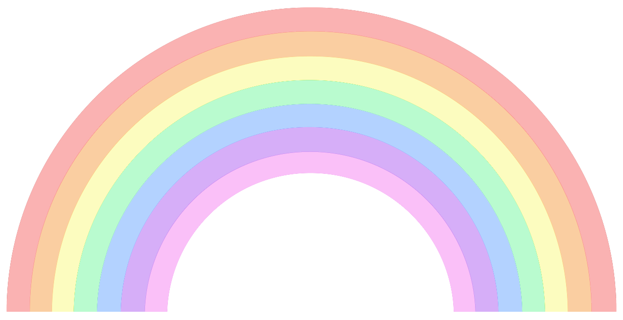 pastel transparent rainbow. by My queen Bitch   WHI