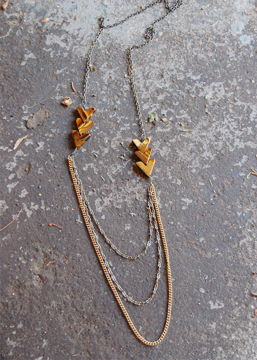 Arrow Necklace Tigers Eye by barkdecor on Etsy