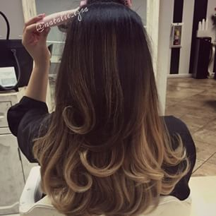 Hair hairstyles long hair short hair curly hair ombre hair for Balayage tie and dye maison