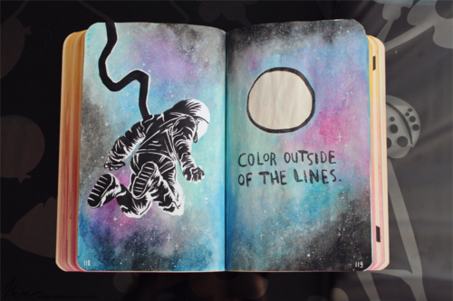 Color Journal Ideas : 255 images about 📓 wreck this journal ✏ on we heart it see