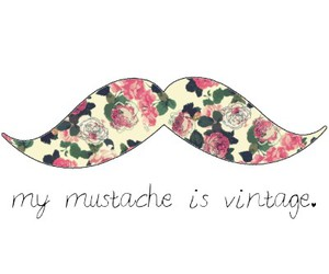 my mustache is vintage